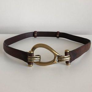 "Western Vintage Brown Leather Belt 40"""